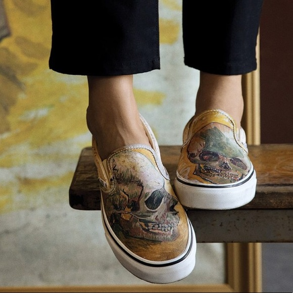 Vans Shoes - Vans Classic Slip-on Vincent Van Gogh Skull